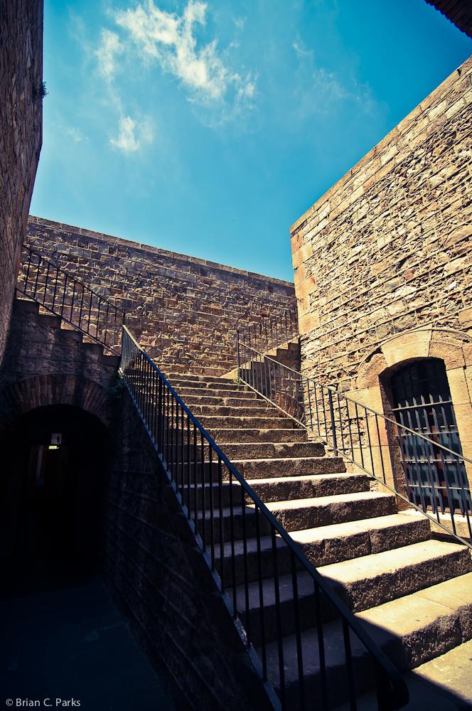 Stairwell to Montjuïc Castell Walls