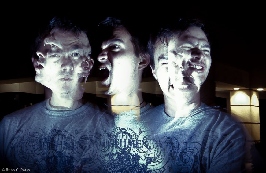 Self Lightpainting Portrait 1
