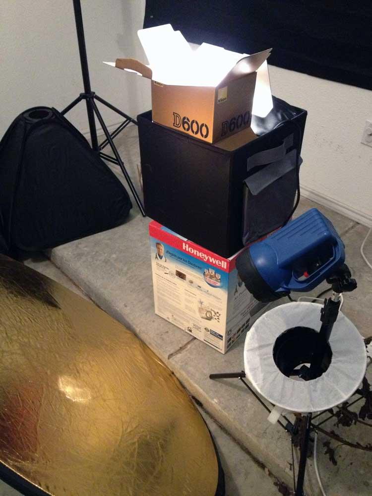 D600 unboxing setup