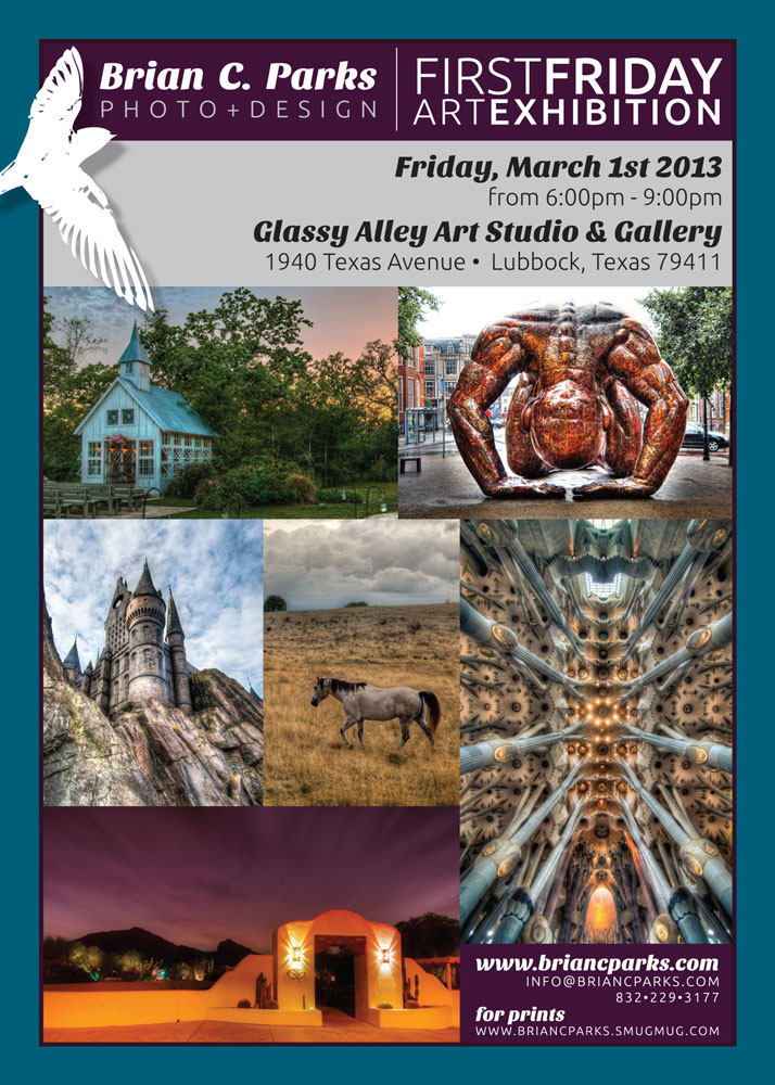 Glassy Alley Exhibition during First Friday Art Trail in March