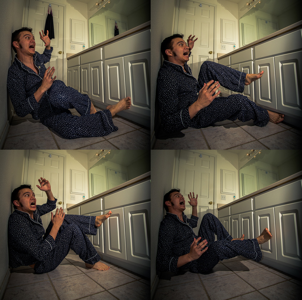 A few outtakes of me acting a fool on the floor