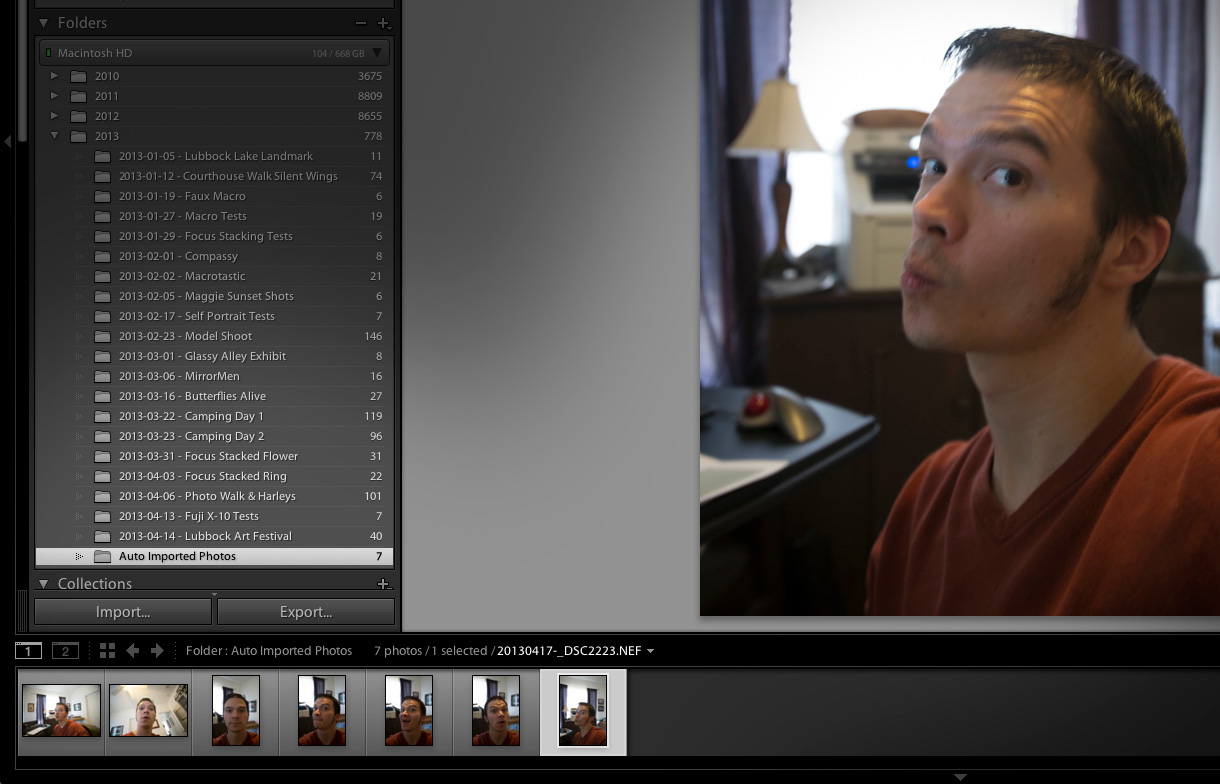 Lightroom tethering with the D600!