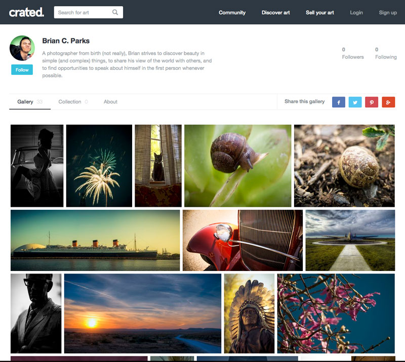 Simple and streamlined gallery view